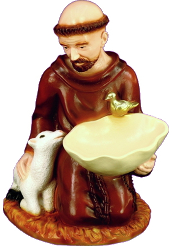 Garden Statue St Francis Assisi 16 Inch Outdoor Vinyl [SA2411C]