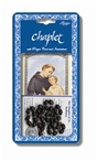 Chaplet Rosary St Anthony Padua Oxidized Silver Brown Wood Beads