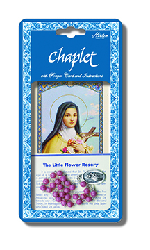 Chaplet Rosary St Therese Lisieux Beads Pink Beads