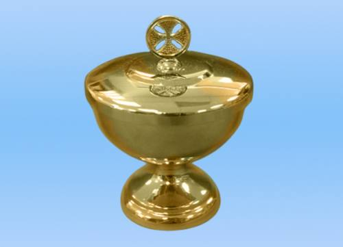 Ablution Cup Gold Plated With Cross 4-1/4""