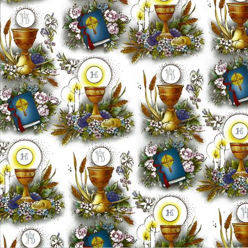 Gift Wrapping Paper First Communion New