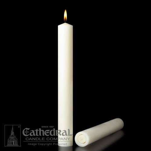 "Altar Candles 51% Beeswax 1-1/2"" x 17"" All Purpose"