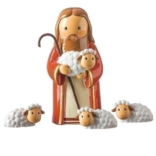 Little Drops of Water Good Shepherd With Sheep 3 Inch