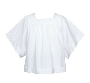Surplice Server Permanent Press Liturgical Poly/Cotton Blend