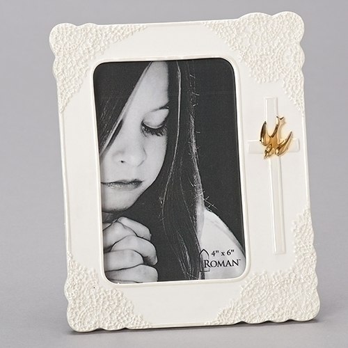 Frame Confirmation Lace Porcelain Gold Dove