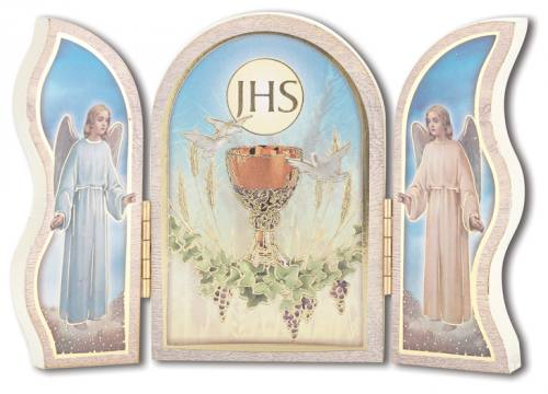 Standing Plaque Triptych First Communion