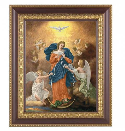 Print Mary Our Lady Undoer of Knots 8 x 10 inch Cherry Framed
