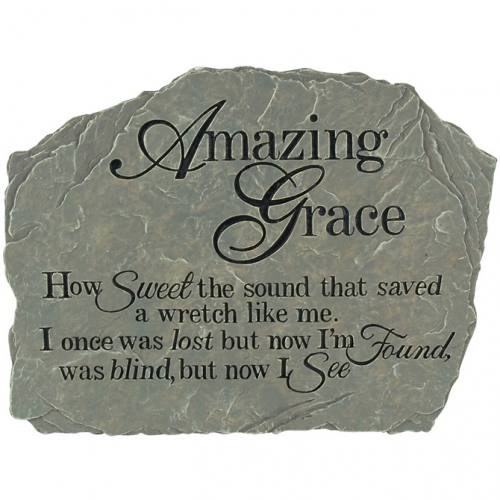 Garden Stone Amazing Grace Resin