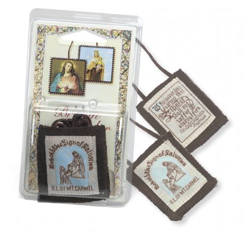 Scapular Brown Our Lady of Mt. Carmel 100% Wool