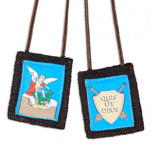 Scapular Brown St Michael the Archangel 100% Wool