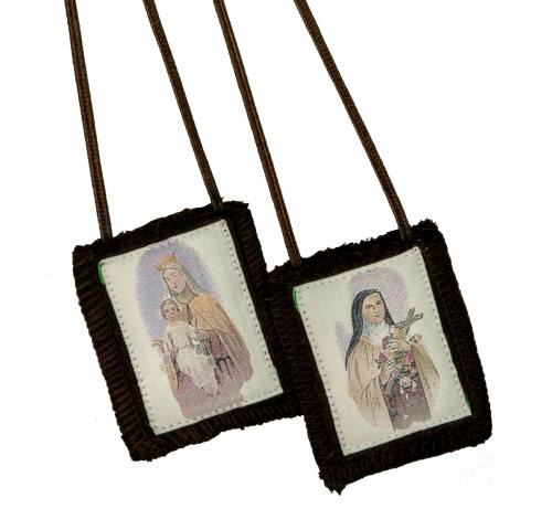 Scapular Brown Carmel St Therese 100% Wool
