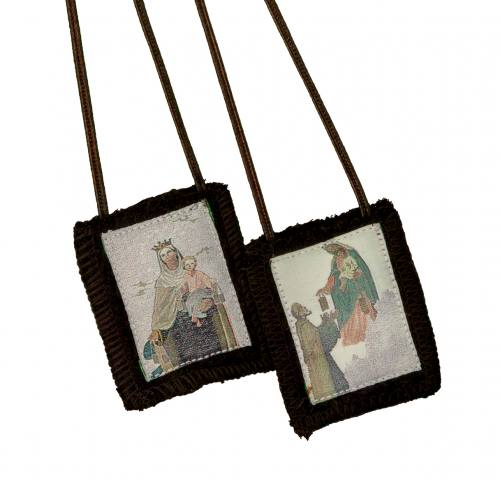 Scapular Brown Carmel Traditional Style 100% Wool