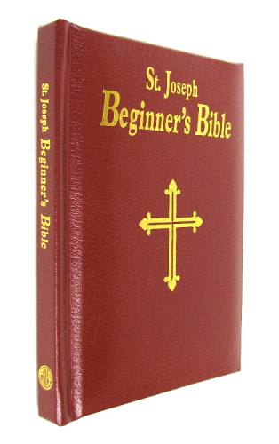 St Joseph Beginners Bible Padded Leather Burgundy