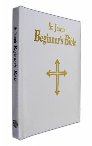 St Joseph Beginners Bible Padded Leather White