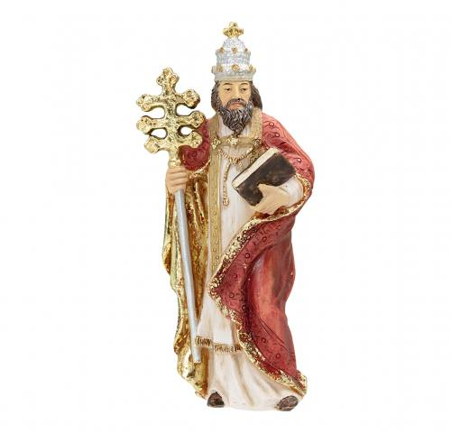 Statue St Gregory 4 inch Resin Painted Boxed