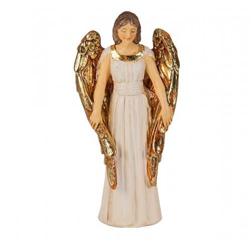 Statue Guardian Angel 4 inch Resin Painted Boxed