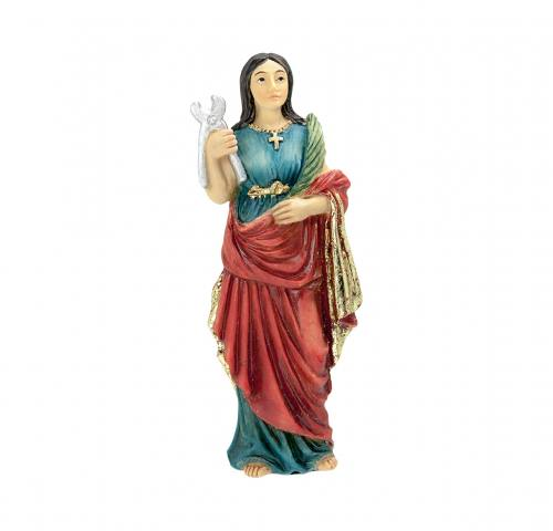 Statue St Agatha 4 inch Resin Painted Boxed