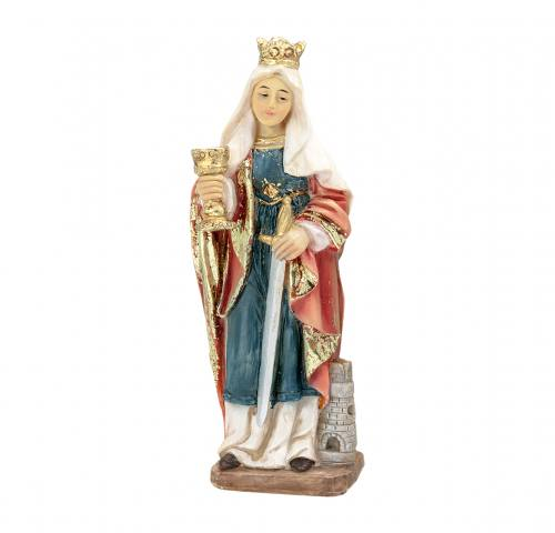 Statue St Barbara 4 inch Resin Painted Boxed