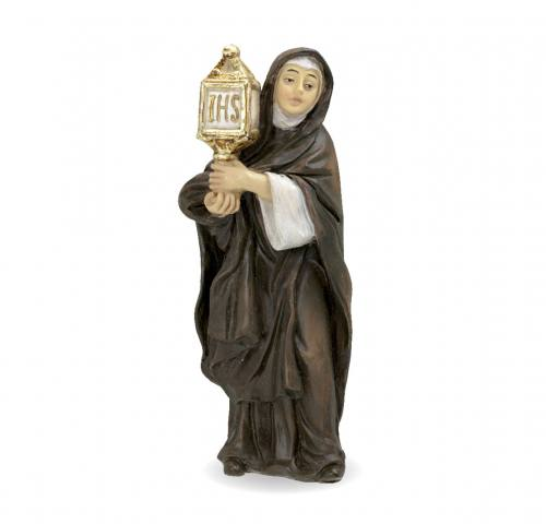 Statue St Clare 4 inch Resin Painted Boxed