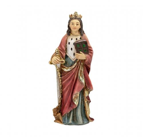 Statue St Dymphna 4 inch Resin Painted Boxed