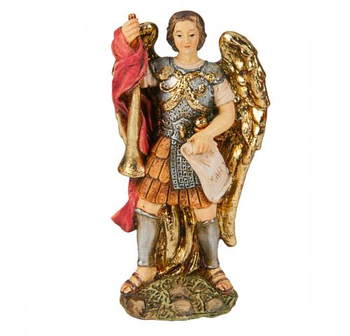 Statue St. Gabriel 4 inch Resin Painted Boxed