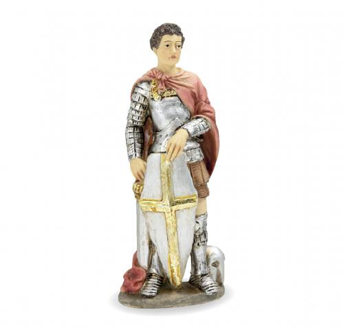 Statue St George 4 inch Resin Painted Boxed