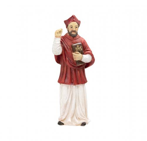 Statue St Robert Bellarmine 4 inch Resin Painted Boxed