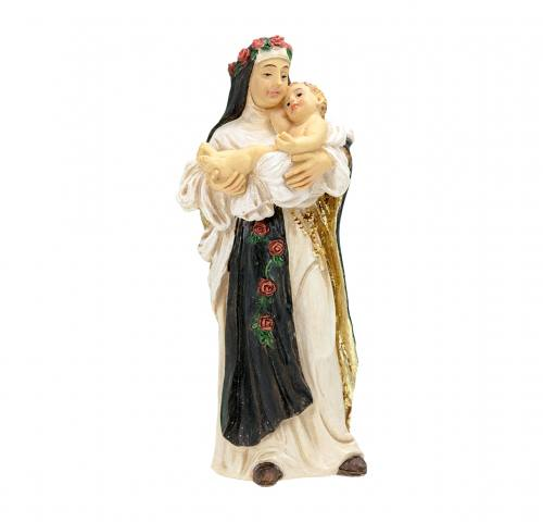 Statue St Rose of Lima 4 inch Resin Painted Boxed