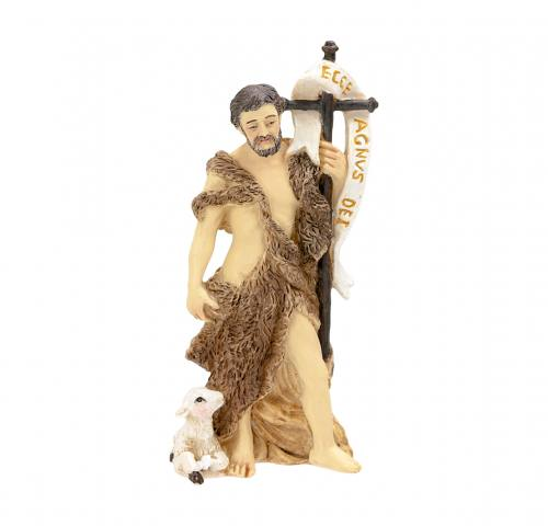 Statue St John the Baptist 4 inch Resin Painted Boxed