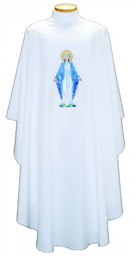 Chasuble Poly Linen Weave Mary Our Lady of Grace