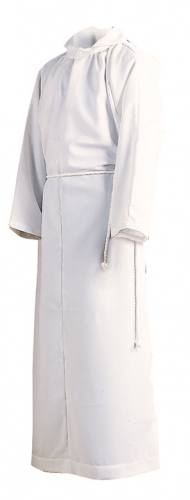 Alb Server Monastic Poly/Cotton Blend White