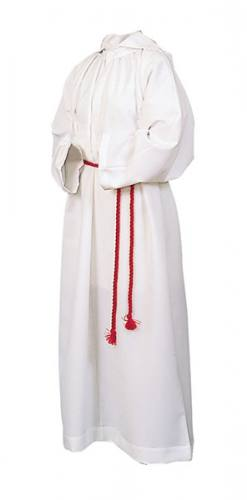 Alb Server Monastic 100% Polyester White