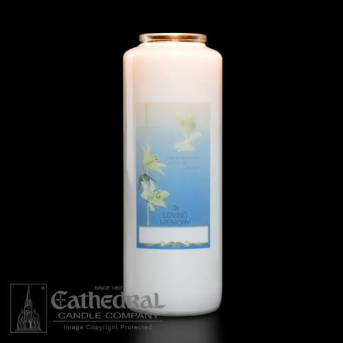 In Loving Memory All Souls 6 Day Glass Bottle Candle