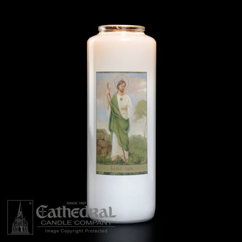 St. Jude 6 Day Glass Bottle Candle