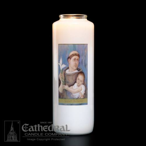 St. Anthony 6 Day Glass Bottle Candle