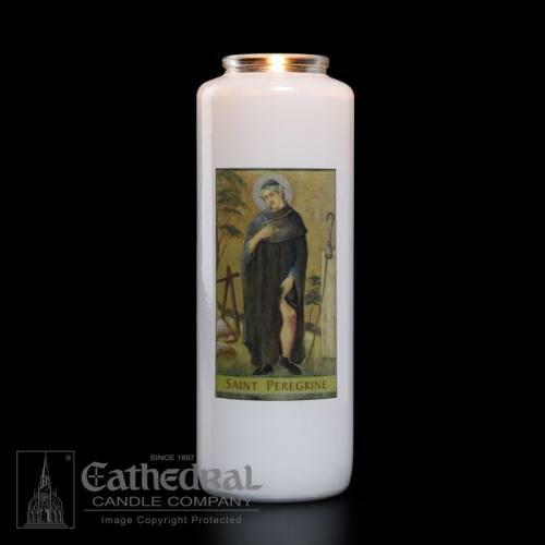 St. Peregrine 6 Day Glass Bottle Candle