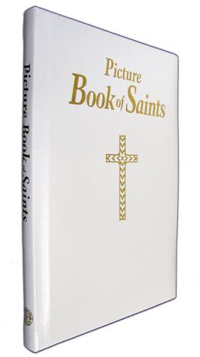 Picture Book of Saints Padded Leather White