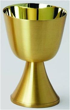 Communion Cup 12 OZ Gold Plated Satin High Polish Finish