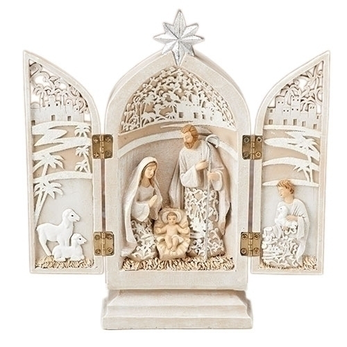 Triptych Holy Family 8 Inches
