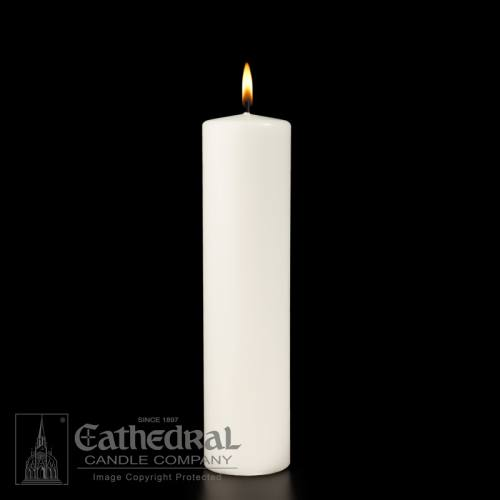 "Candle White Plain Pillar Advent Wedding 3"" x 12"""