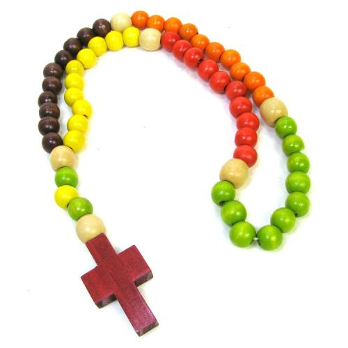 Rosary Child Multicolored Wood Bead Small