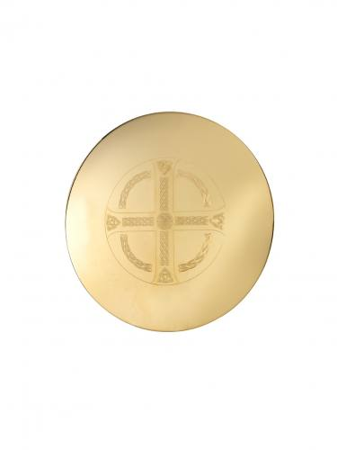 "Scale Paten High Polish Gold Plated 5.5"" Celtic Maltese Design A"