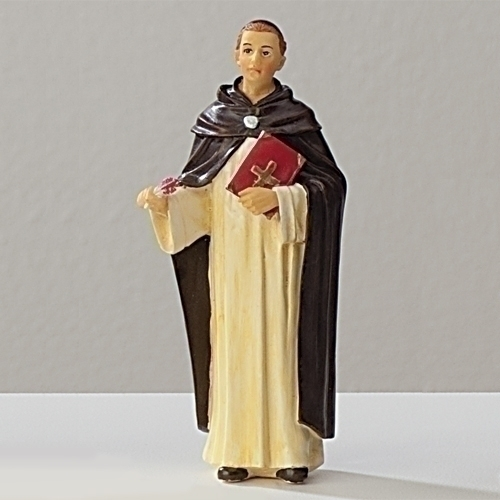 Statue St Thomas Aquinas 3.5 inch Resin Painted Boxed
