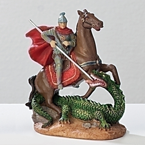 Statue St George 3.5 inch Resin Painted Boxed