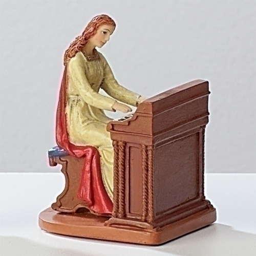 Statue St Cecilia 3.5 inch Resin Painted Boxed