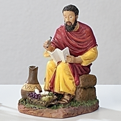 Statue St Matthew Evangelist 3.5 inch Resin Painted Boxed