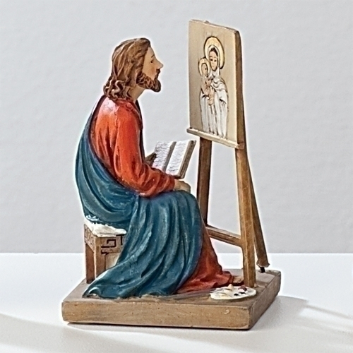 Statue St Luke Evangelist 3.5 inch Resin Painted Boxed