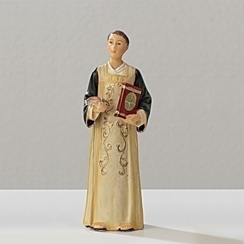 Statue St Stephen Martyr 3.5 inch Resin Painted Boxed