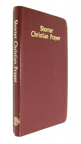 Shorter Christian Prayer Regular Print Imit Leather Burgundy