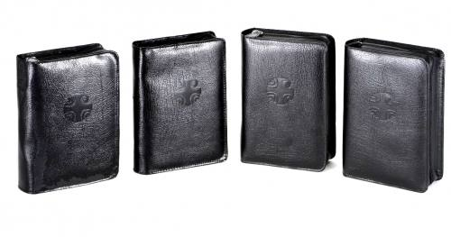 Zipper Covers Liturgy of the Hours Regular Print Leather Black